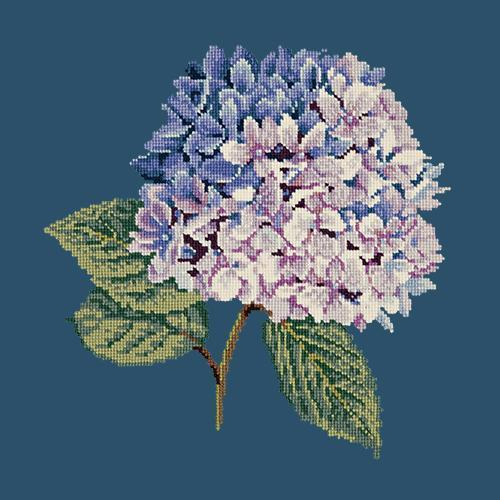 Hydrangea Needlepoint Kit Elizabeth Bradley Design Dark Blue