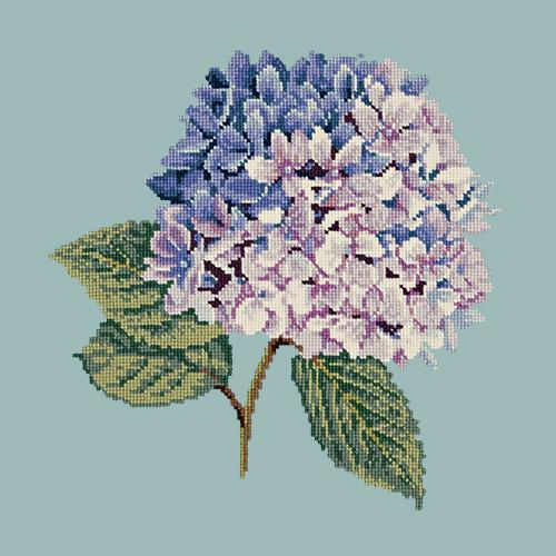 Hydrangea Needlepoint Kit Elizabeth Bradley Design Pale Blue