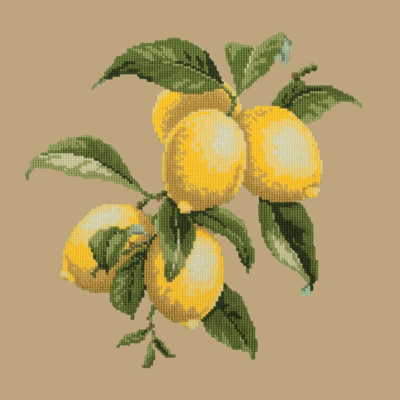 Lemons Needlepoint Kit Elizabeth Bradley Design Sand