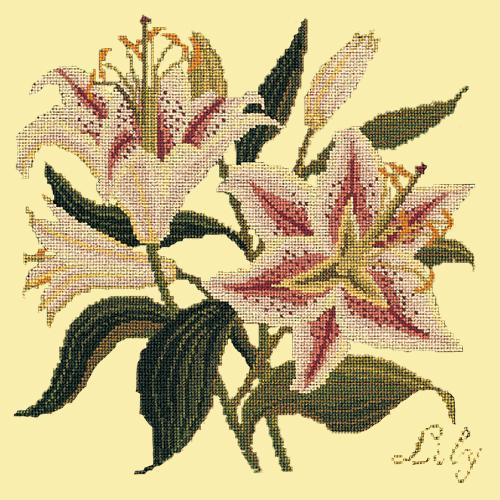Lily Needlepoint Kit Elizabeth Bradley Design Butter Yellow