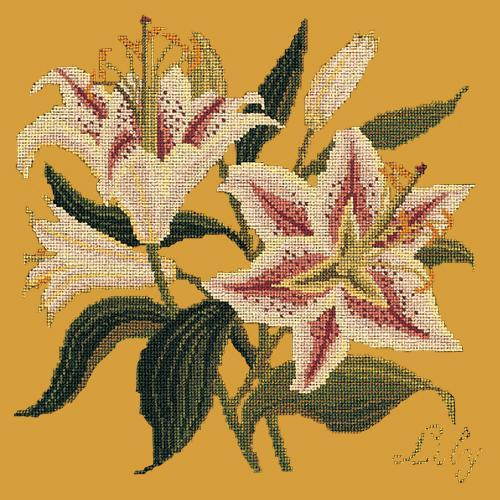 Lily Needlepoint Kit Elizabeth Bradley Design Yellow