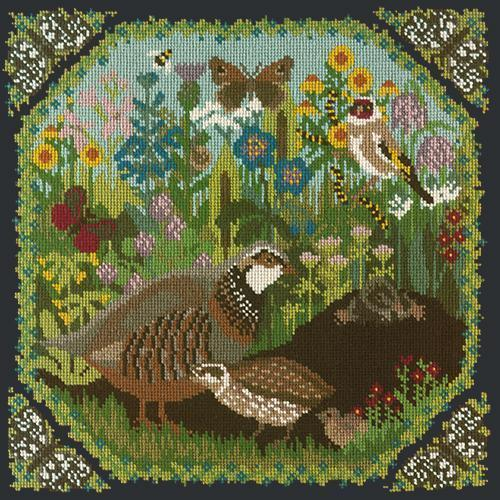 Meadow Needlepoint Kit Elizabeth Bradley Design Black