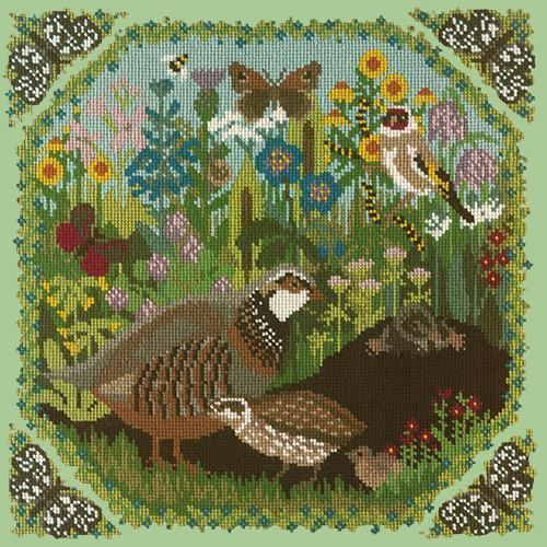 Meadow Needlepoint Kit Elizabeth Bradley Design Pale Green