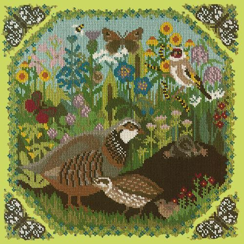 Meadow Needlepoint Kit Elizabeth Bradley Design Pale Lime