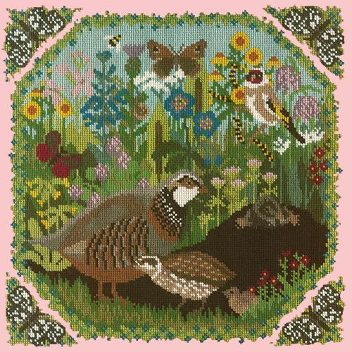Meadow Needlepoint Kit Elizabeth Bradley Design Pale Rose