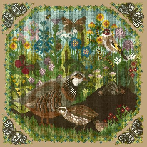 Meadow Needlepoint Kit Elizabeth Bradley Design Sand