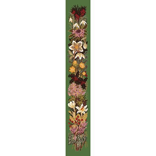 Midwinter Bell Pull Needlepoint Kit Elizabeth Bradley Design Dark Green