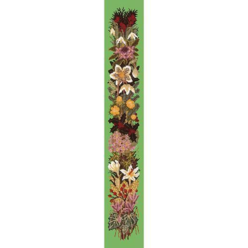 Midwinter Bell Pull Needlepoint Kit Elizabeth Bradley Design Grass Green