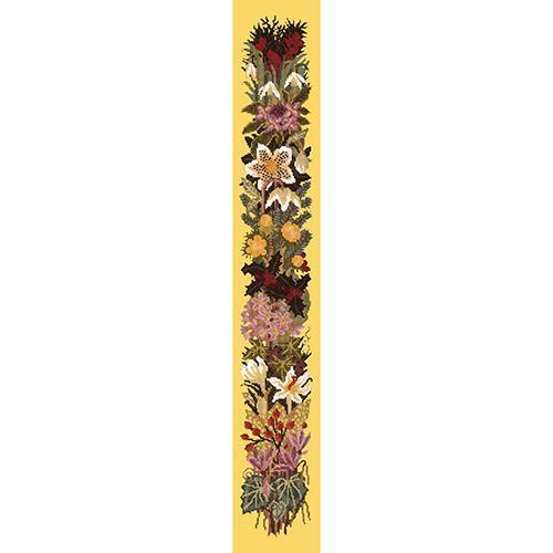 Midwinter Bell Pull Needlepoint Kit Elizabeth Bradley Design Sunflower Yellow