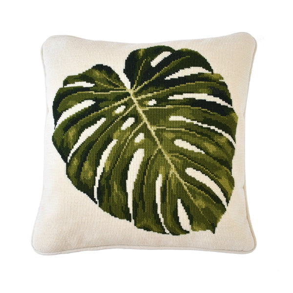 Monstera Leaf Needlepoint Kit Elizabeth Bradley Design