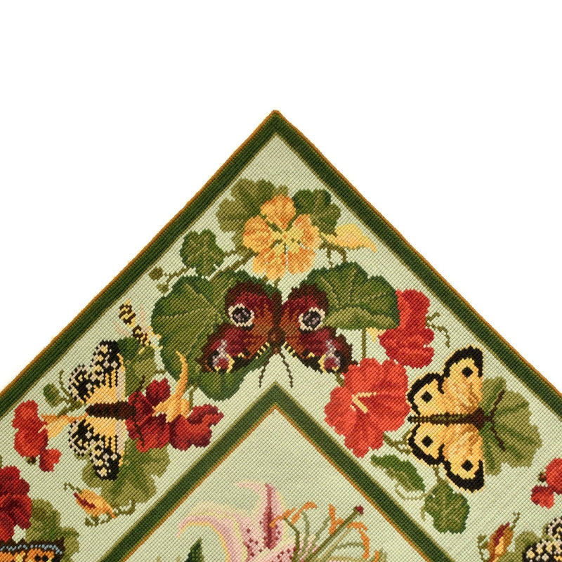 Nasturtium and Butterfly Border Carpet Border Elizabeth Bradley