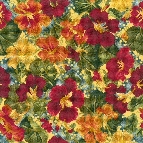 Nasturtium Trellis Needlepoint Kit Elizabeth Bradley Design Sunflower Yellow