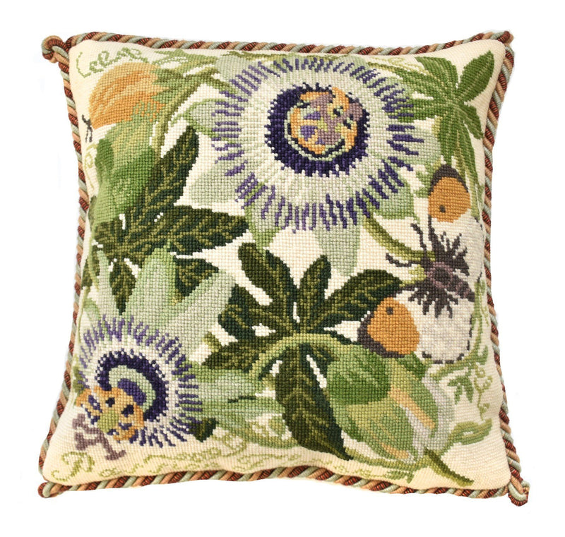 Passion Flower Needlepoint Kit Elizabeth Bradley Design