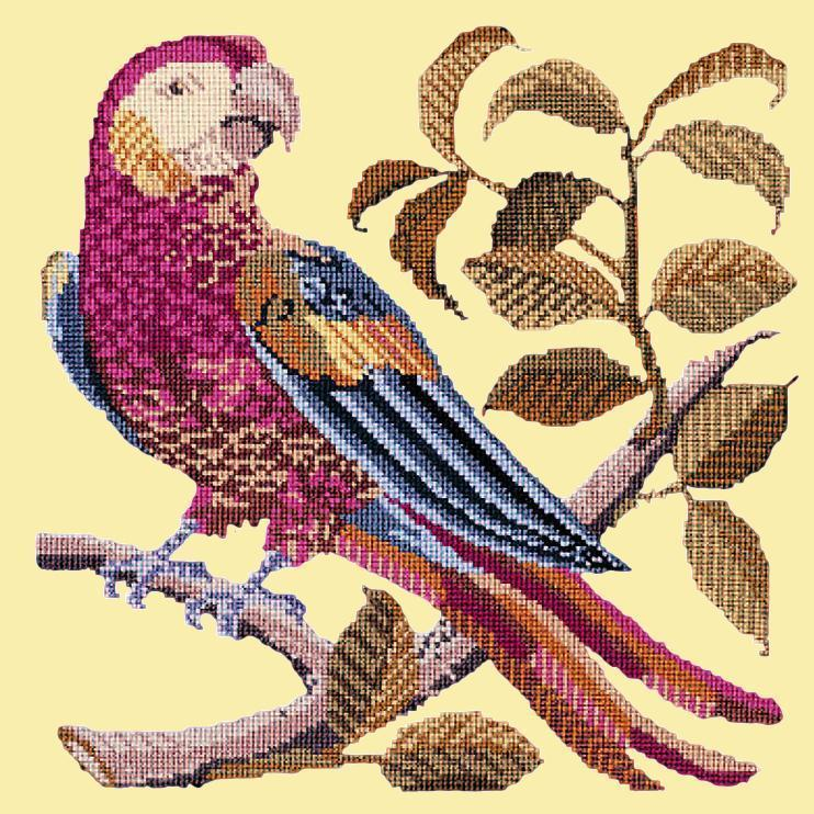 Pete the Parrot Needlepoint Kit Elizabeth Bradley Design Butter Yellow
