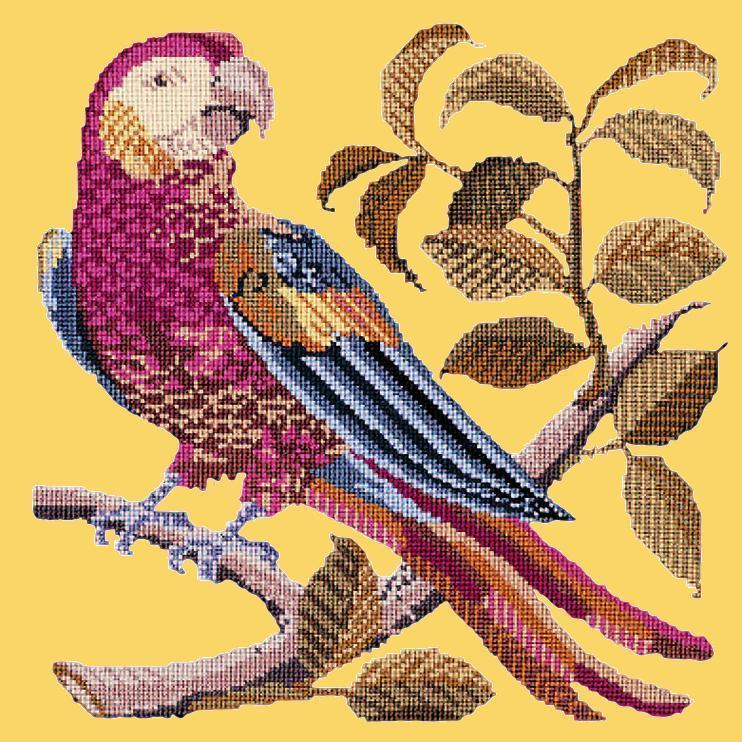 Pete the Parrot Needlepoint Kit Elizabeth Bradley Design Sunflower Yellow