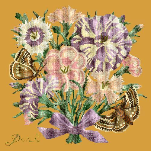 Pink Needlepoint Kit Elizabeth Bradley Design Yellow