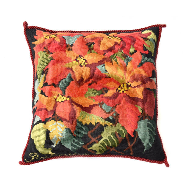 Poinsettia Needlepoint Kit Elizabeth Bradley Design