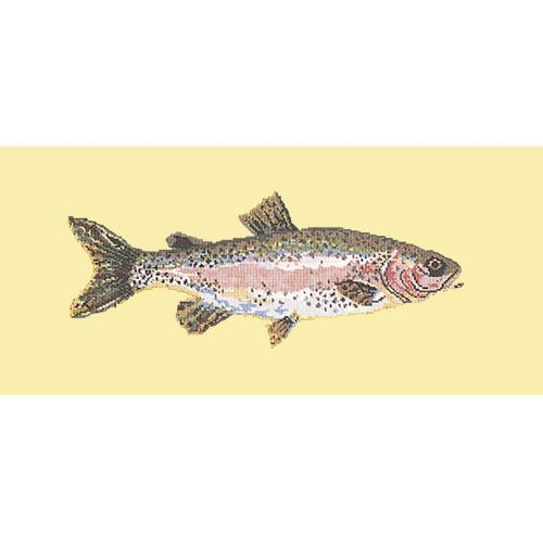 Rainbow Trout Needlepoint Kit Elizabeth Bradley Design Butter Yellow