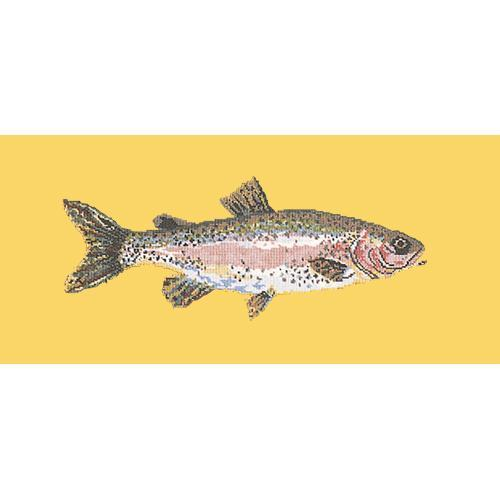 Rainbow Trout Needlepoint Kit Elizabeth Bradley Design Sunflower Yellow