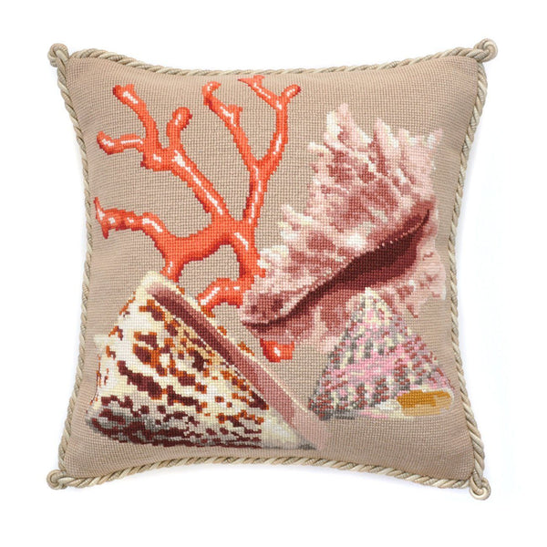 Red Coral Needlepoint Kit Elizabeth Bradley Design