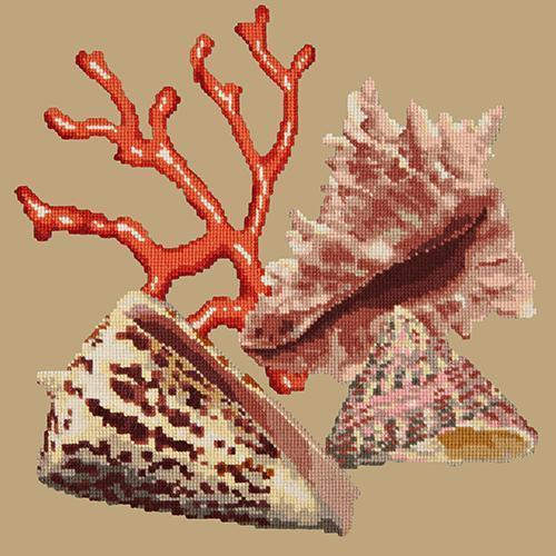 Red Coral Needlepoint Kit Elizabeth Bradley Design Sand