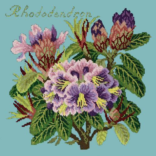 Rhododendron Needlepoint Kit Elizabeth Bradley Design Duck Egg Blue