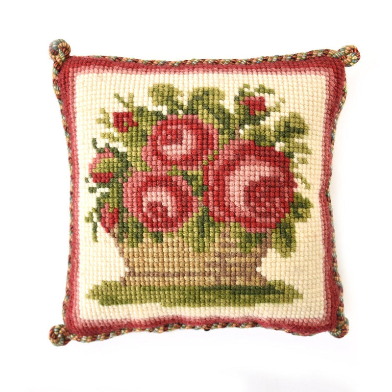 Rose Basket Mini Kit Needlepoint Kit Elizabeth Bradley Design