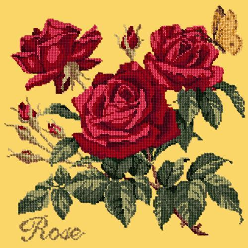 Rose Needlepoint Kit Elizabeth Bradley Design Sunflower Yellow