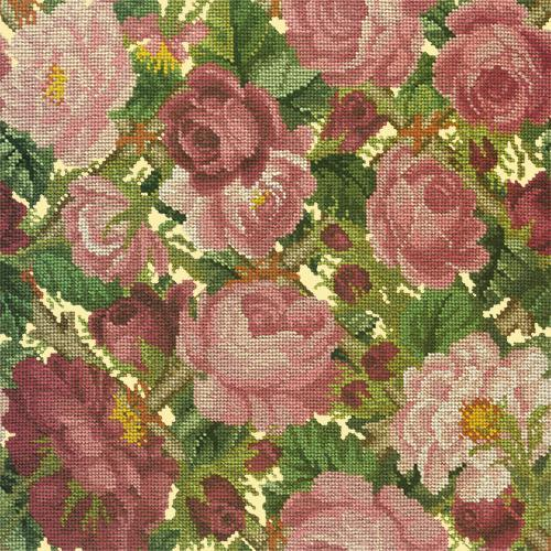 Rose Trellis Needlepoint Kit Elizabeth Bradley Design Butter Yellow