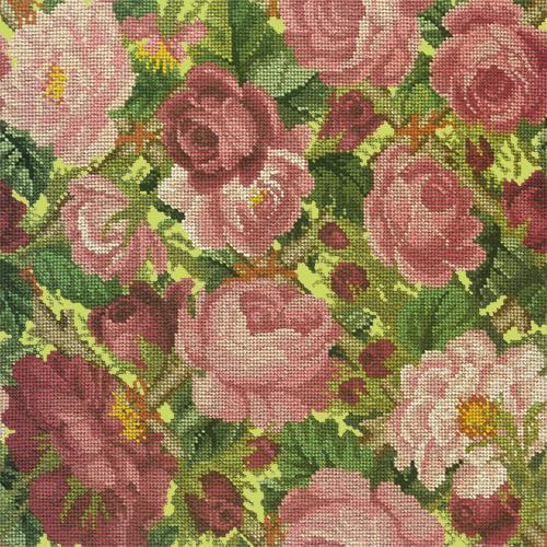 Rose Trellis Needlepoint Kit Elizabeth Bradley Design Pale Lime