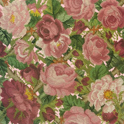 Rose Trellis Needlepoint Kit Elizabeth Bradley Design Pale Rose