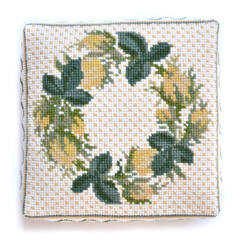 Rosebud Wreath Needlepoint Kit Elizabeth Bradley Design