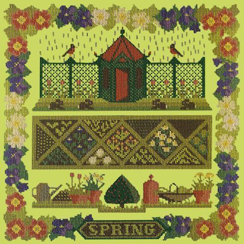 Spring Sampler Needlepoint Kit Elizabeth Bradley Design Pale Lime
