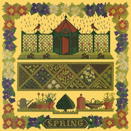 Spring Sampler Needlepoint Kit Elizabeth Bradley Design Sunflower Yellow
