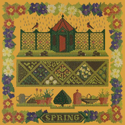 Spring Sampler Needlepoint Kit Elizabeth Bradley Design Yellow
