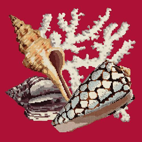 Staghorn Needlepoint Kit Elizabeth Bradley Design Bright Red