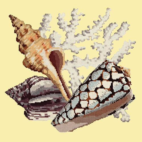 Staghorn Needlepoint Kit Elizabeth Bradley Design Butter Yellow