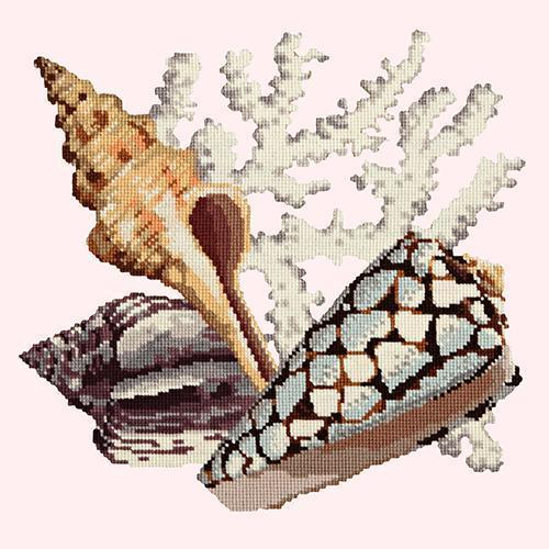 Staghorn Needlepoint Kit Elizabeth Bradley Design Cream