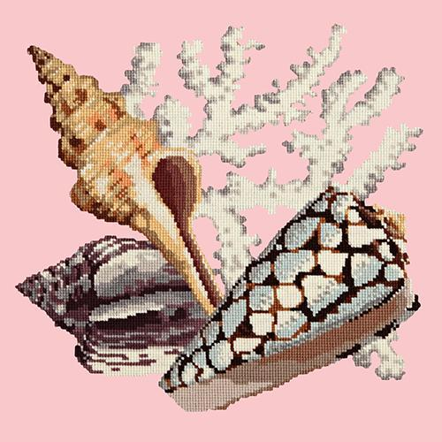 Staghorn Needlepoint Kit Elizabeth Bradley Design Pale Rose