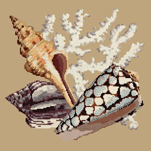 Staghorn Needlepoint Kit Elizabeth Bradley Design Sand
