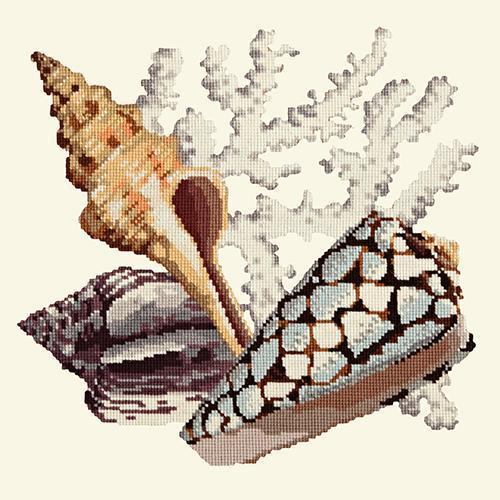 Staghorn Needlepoint Kit Elizabeth Bradley Design Winter White