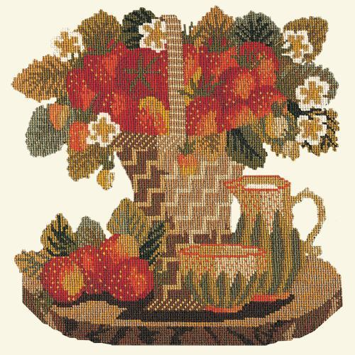Strawberries Needlepoint Kit Elizabeth Bradley Design Winter White
