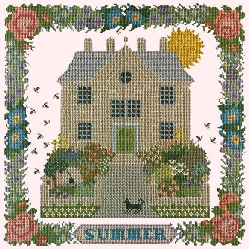 Summer Sampler Needlepoint Kit Elizabeth Bradley Design Cream