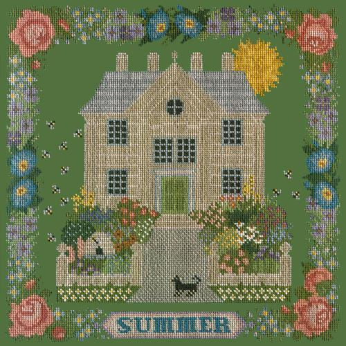 Summer Sampler Needlepoint Kit Elizabeth Bradley Design Dark Green