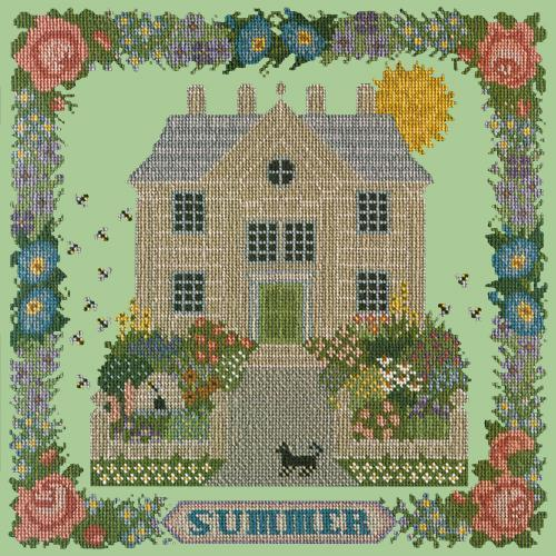 Summer Sampler Needlepoint Kit Elizabeth Bradley Design Pale Green