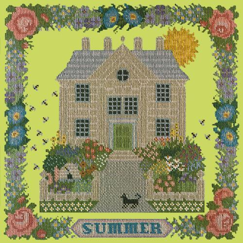 Summer Sampler Needlepoint Kit Elizabeth Bradley Design Pale Lime