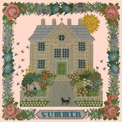 Summer Sampler Needlepoint Kit Elizabeth Bradley Design Salmon Pink