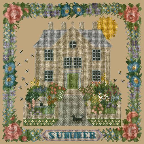 Summer Sampler Needlepoint Kit Elizabeth Bradley Design Sand