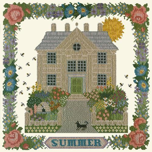 Summer Sampler Needlepoint Kit Elizabeth Bradley Design Winter White