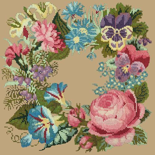 Summer Wreath Needlepoint Kit Elizabeth Bradley Design Sand